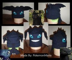 Toothless Dragon Hat by PokemonMasta