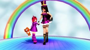 MMD Caitlyn and Annie // in a parrallel dimention? by yamadahitomy