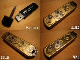 Steampunk USB device by Vanyanie