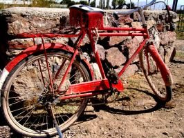 red bicycle by Bronx7