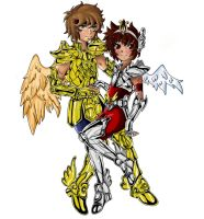 aioros y seiya final by lyofar