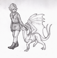 A Girl and Her Dragon by Sporelett