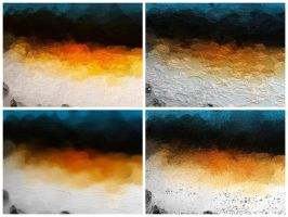 Orange and Blue Abstract textures by SamiraEmelie
