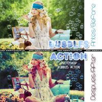 'BUBBLES' Photoshop Action by runway-resources