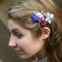 Scale Flower Barrettes by Utopia-Armoury