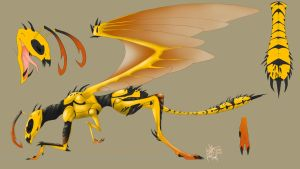 wasp dragon by Mythrime