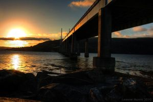 Kessock Bridge at sunset by Yanzibar