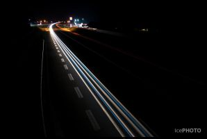 Highway at night by IceBone