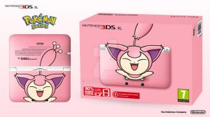 Nintendo 3DS XL Pokemon Series - Skitty Edition by Paxxy