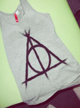 deathly hallows shirt by MonCherii