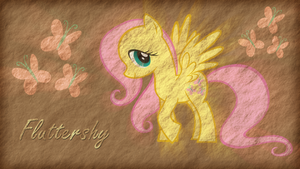 Fluttershy - Old Parchment by Jamey4
