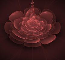 Rose Colored Fractal Flower by dreams2media