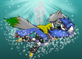 Nick and Amber: Drowning Kiss by khfanatic1995