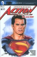 Action #18 Superman Cover/ Henry Cavill by SteveStanleyArt