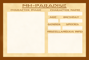 MH-Paradise Application Form by Kimerasaurus