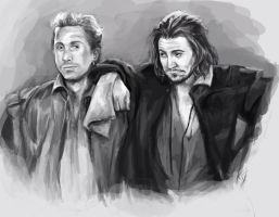 Rosencrantz and Guildenstern by artastrophe