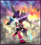 TFA Arcee vs. Cyclonus by MamonnA