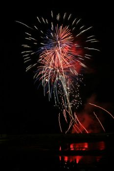 Red White And Blue Explosions by JAHphoto