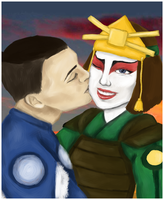 Sokka / Suki by MadnessInMeadow