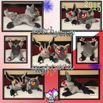 Commission: Poochyena and Mightyena Plushies! by Ami-Plushies