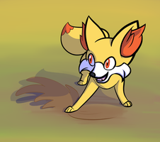 fennekin fire / ground type by Veskler