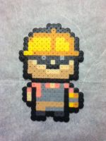 -Perler- TF2 RED Engineer by OtakuLuka