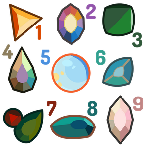 Mystery Gem Adoptables CLOSED by Shinigami--Apples