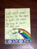 words to live by series card 3 by RaheHeul