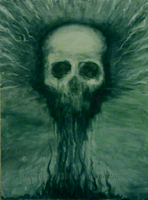 Green Skull by GrinningGhoul