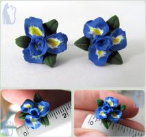 Iris Flower Earrings by Talty