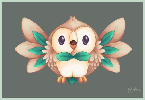 Rowlet by BluHiroo
