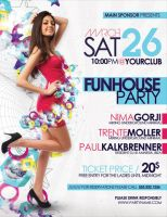 Funhouse Party Flyer Poster by outlawv15