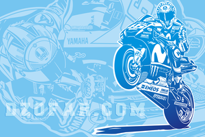 Vector Valentino Rossi Line Art by ndop