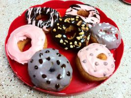 Tea Time Soy Donuts by Corselia