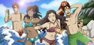 Legend of Korra at the Beach by AshleyKayley