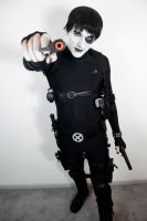 X-men Domino cosplay - Want some? by GrumpyCosplay