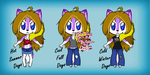Crystal Ookami Wolf .:Clothes Ref:. by BlueWaterRose
