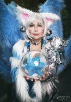 Charming Ice Ahri by Daraya-crafts