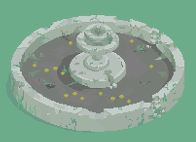 Ruined Fountain by Revangale