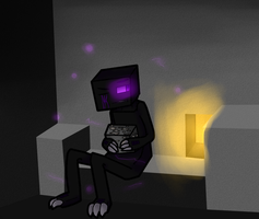 SO I drew a Enderman by FlyingMintBunnyL0ver