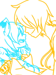 Chey and Fake Smile .::S-Smile! Stop...::. WIP by Cheyannekat
