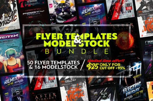 Flyer Templates and Model Stock Bundle by amorjesu