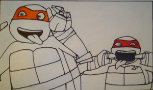 TMNT: Screen-shot Drawing by xXDanielPhantomXx