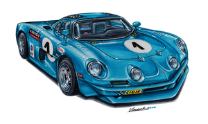 Alpine A110 Le Mans by vsdesign69