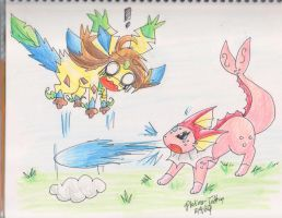 R-PKMN Battle by FENNEKlNS