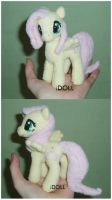 Dinky 5 Inch  Fluttershy by dot-DOLL