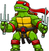 Raphael (Teenage Mutant Ninja Turtles) by Hologramzx