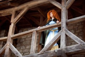 Merida, at her castle by shua-cosplay