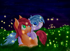 A Firefly Night by Silverwindpegasus
