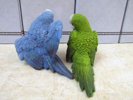 Summit Collection blue and green budgie back by Sorath-Rising